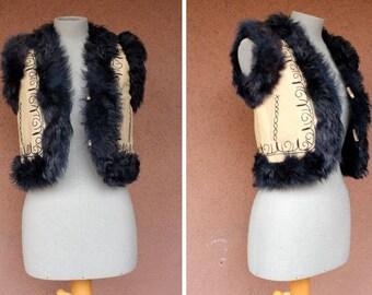 1970's Penny Lane Shearling Vest - Size Xs  S