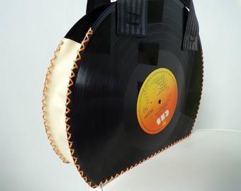 Vintage vinyl record handbag