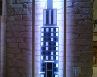 "wallcity's: lamp wooden ""building"""