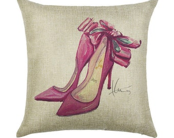 Bow Down Throw Pillow Case