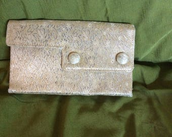 Vintage 60's Gold and Silver Brocade Evening Bag Butemode