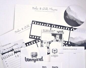 Black & White Aesthetics Paper Ephemera, Letter Paper