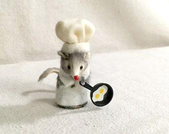 Vintage Original Fur Toys Chef Mouse