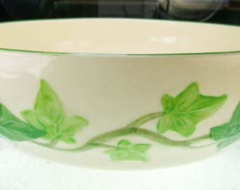 """Franciscan 8"""" Vegetable Bowl Ivy Motif """"I Love Lucy"""" Pattern  Made in California USA"""