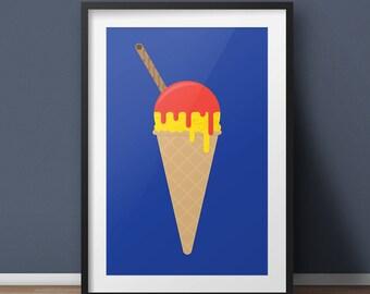 Ice Cream Pop Art/Modern Art Giclée print (A4,A3,A2)