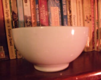 Reduced!! 1940's Heavy White Porcelain Bowl