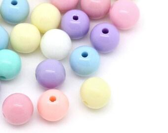6mm Pastel Acrylic Bubblegum Beads 500 beads, 8558, 402a