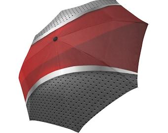Red Umbrella Grey Umbrella Designed Umbrella Metallic Pattern Umbrella Art Umbrella Photo Umbrella Automatic Foldable Umbrella