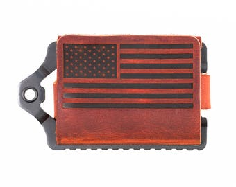 Trayvax Old Glory Element Leather Wallet