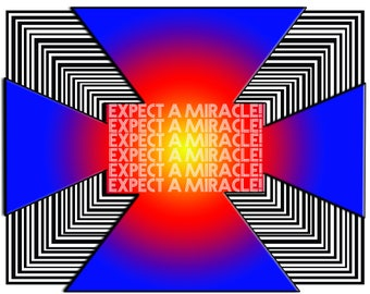 Expect A Miracle-Positive Manifestation-Digital Design