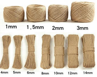10 yards Natural Jute Rope,Jute Cord,Jute Wire,Hemp Rope,Jute Rope for Hammocks,Plant Holders,Gardening,Crafts,decking TZ2060