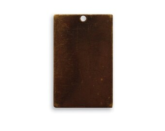 DESTASH SALE: Vintaj Brass 32mm Rectangle Altered Blank - set of 24