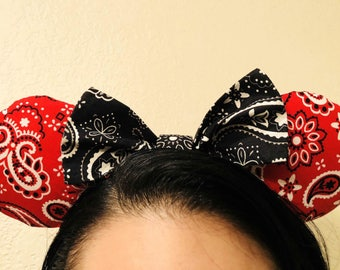 Paisely Print Minnie Mouse Inspired Ears