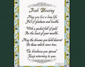 IRISH BLESSING    May You Live A Long Life