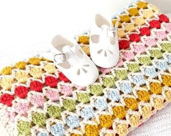 Crochet Pattern, Pattern di coperta, coperta all'uncinetto, bambino coperta all'uncinetto, adulto uncinetto afghano, facile, del Crochet di DIY, Divano Throw, culla coperta