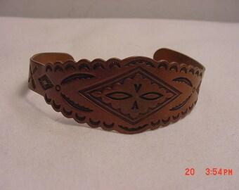 Vintage Solid Copper Cuff Bracelet  18 - 167