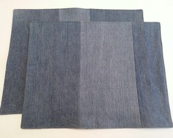 Upcycled Denim Place mats /  Casual Dining /  Sustainable Home Decor / Denim Decor (3)
