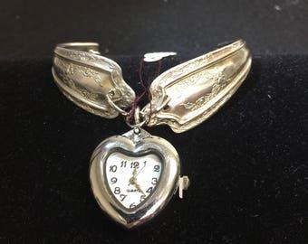 Antique silverware spoon watch