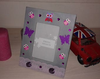 owls and butterflies picture frame