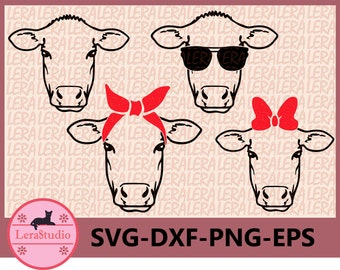 60 % OFF, Calf SVG, Farm svg, Calf with Bandana svg, Calf in Sunglasses Svg, Calf face SVG, dxf, ai, eps, png, Silhouette svg, Vector svg