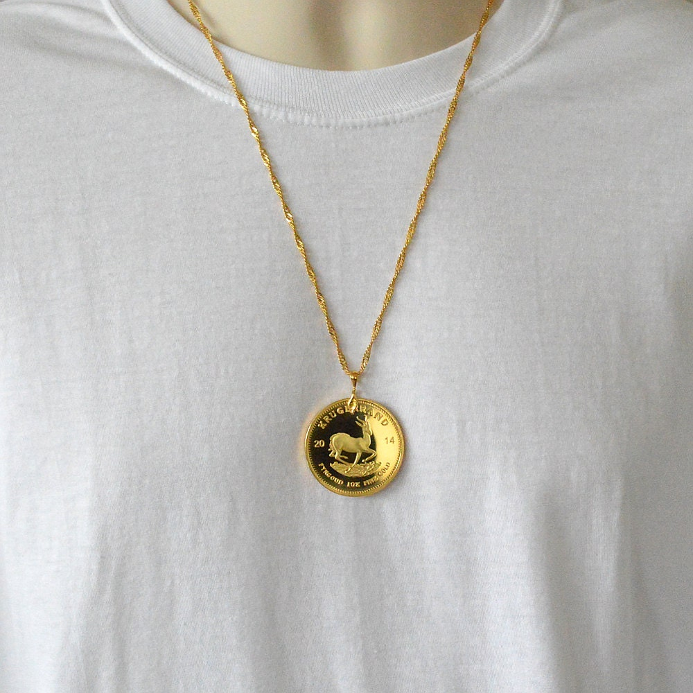 coast gold solid coin necklace pendant disk guard us necklaces rose pendants