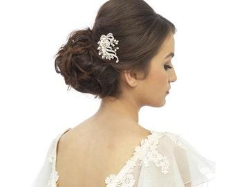 Bridal Hair Comb, Crystal hair comb, pearl hair comb, freshwater pearl comb, ivory hair comb, Wedding Comb, silver hair comb, deco hair comb