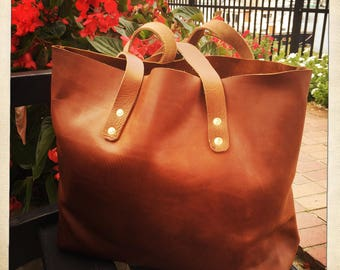 Tote Bag, Leather Tote Bag, Unlined Leather Bag, Raw Edge Leather Bag, Tote Bag,