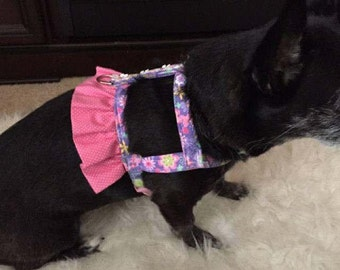 Custom Dog Harness - Dog Dress - Dog Outfit - Dog Clothes -  Small Dog Dress - Large Dog Dress - Dog Harness -Designer Dog Fashion