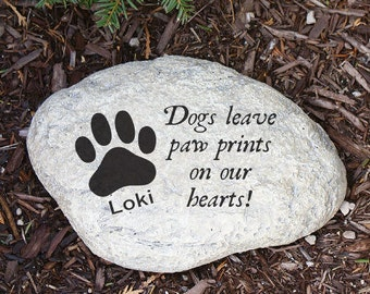 Engraved Dog Memorial Garden Stone, pet, memorial, garden stone, memorial garden stone, cremated, keepsake, memorial, engraved -gfyL582114P