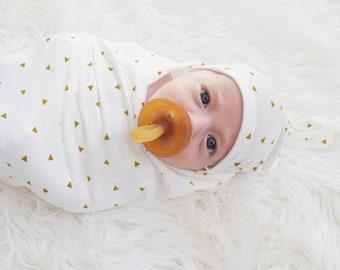 Gold Arrow Newborn Swaddle Set