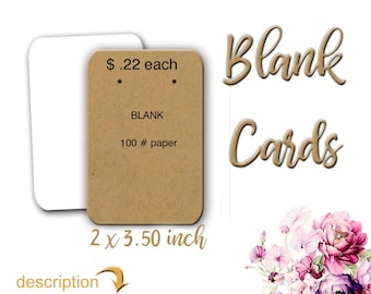 Jewelry Cards | Blank Earring Cards | Blank Cards | Display Cards | Blank Display Cards | Necklace Cards Blank | Earring Cards