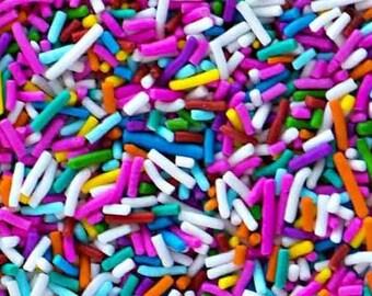 RAINBOW Classic Crunchy Rainbow Sprinkles - Gluten-Free, Vegan, Kosher, Jimmies, Skinny Sprinkles, Canadian - Sweetapolita