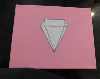pink with diamond