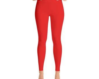 Real Red Yoga Leggings