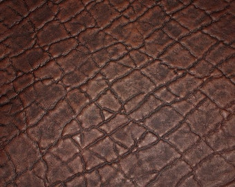 """Leather 12""""x20"""" or 15""""x15"""" or 10""""x24"""" + ELEPHANT Chocolate Brown Embossed Cowhide 2.5-3oz/1-1.2 mm PeggySueAlso™ E2899-15"""