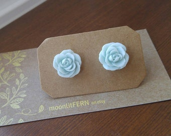 Gorgeous rose stud earrings, stainless steel posts, gift for her, flower, floral, rose jewelry