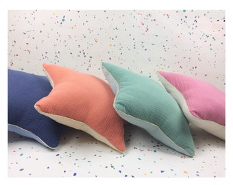 Two-tone double gauze cotton cushion