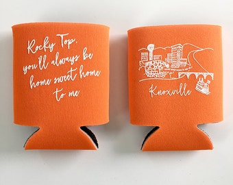 Knoxville, Tennessee Orange Insulated Can Holder