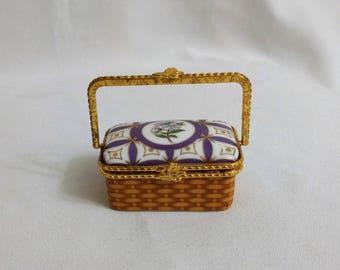 Porcelain Trinket / Ring Basket