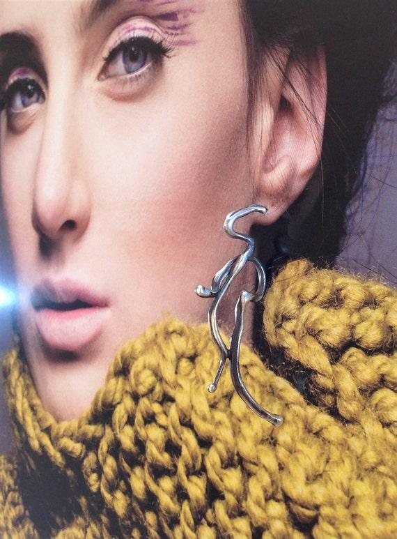 statement earring | single earring | big stud earring | art jewelry | avant garde