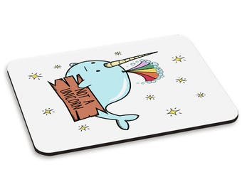 Narwhal Not A Unicorn PC Computer Mouse Mat Pad