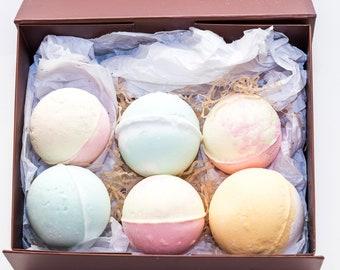 6 Bath Bomb Bath GIFT Set Luxurious Aroma Therapy High Quality