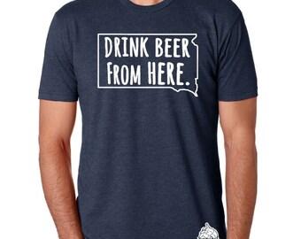 Craft Beer Hoodie- South Dakota- SD- Drink Beer From Here B3BG5L9M60