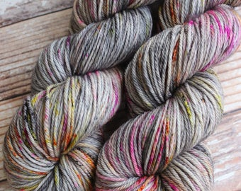 Delia - Dark Magic  - Hand Dyed Yarn - 100% SuperWash Merino, Worsted Weight