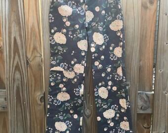 Bergdorf Goodman Leather Pants // Vintage Leather Pants // Floral Pants // Printed Leather Pants