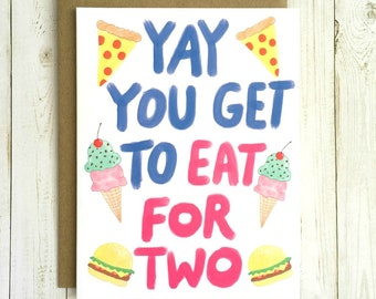Funny Pregnancy Card, Funny Baby Card, Funny Pregnancy Congratulations Card, Pregnant Congratulations Card, Funny Expecting Card