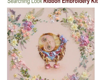 Searching Look Ribbon Embroidery Kit