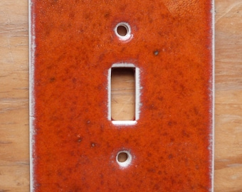 Orange sunset ceramic switchplate cover