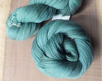 Sea Glass - Hand Dyed Merino Silk Lace Yarn