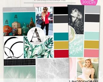 Custom styleboard moodboard coastal bedroom example for Fashion mood board template